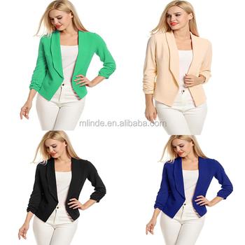 100Polyester Sleeve Büro Designer Modell Blazer Jacken Jacken damen Neues Vordere Kurze Damen Stil Buy 34 Strickjacke Open rBtdsChoQx