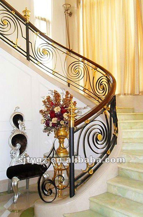 Los bancos de hierro forjado pasamanos de la escalera - Pasamanos de hierro forjado para escaleras ...