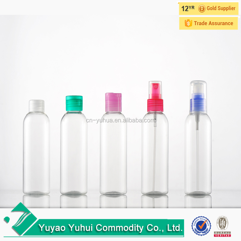 100ml plastic PET bottle with screw cap for cosmetic