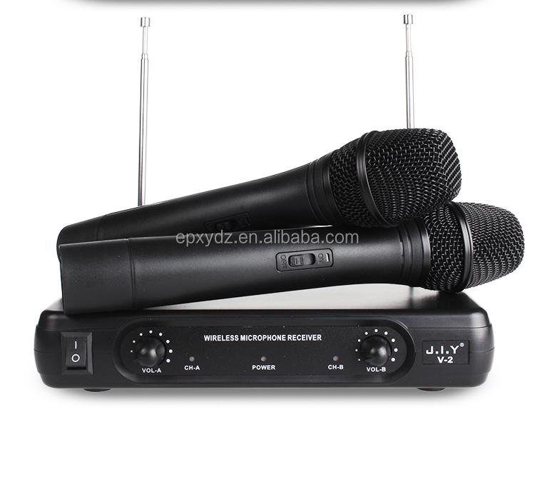 J.I.Y V2 cina produttore prezzo a buon mercato professionale microfono stile palmare microfono senza fili del fattore di commercio all'ingrosso