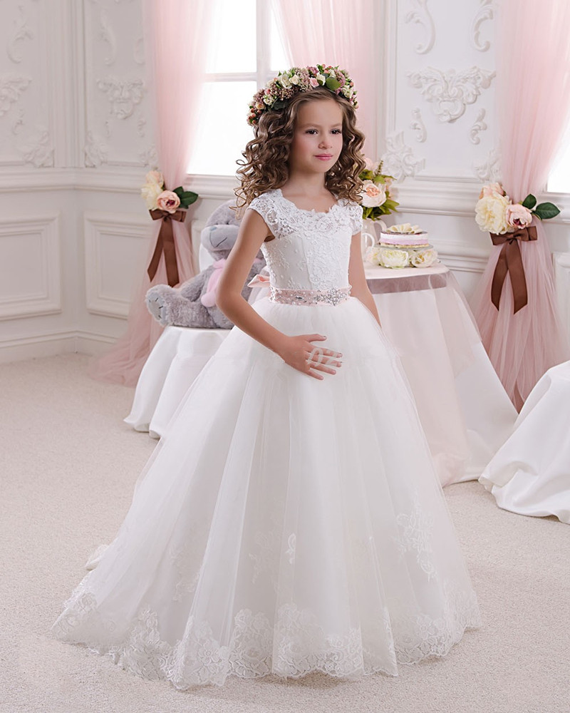 Flower Girl Dresses For Garden Weddings: 2016 Hot White Flower Girl Dresses For Weddings Lovely