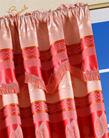 jacquard curtain fabric valances style low MOQ sales South American