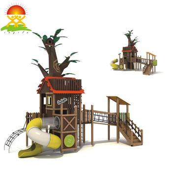 Custom outdoor playground equipment tree house