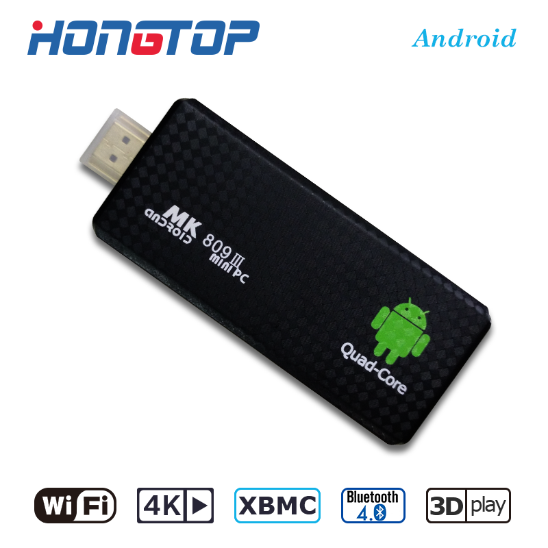 android mini pc with quad core rk3229, MK809III google android 5.1 smart android <strong>tv</strong> <strong>stick</strong>, xbmc smart android <strong>tv</strong> <strong>dongle</strong>