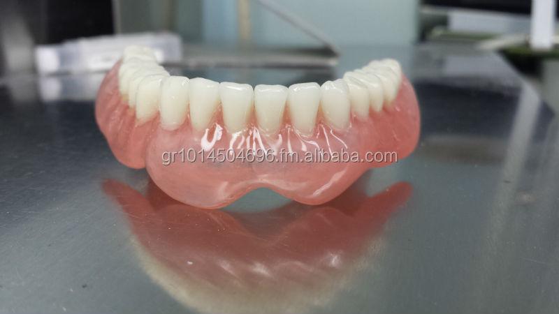 Unbreakable(no Flexible) Thermoplastic/acrylic Pmma Denture