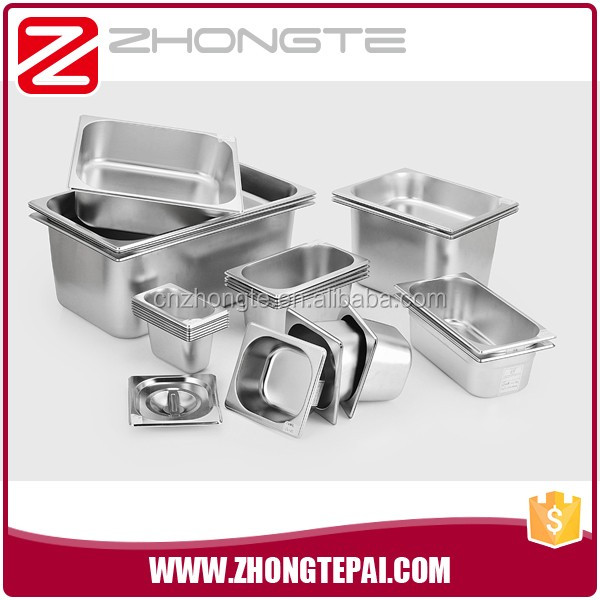 table ware Stainless gn food pan for Refrigerated salad bar