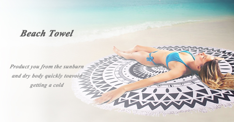 Hot fashion design multipurpose large round microfibre round beach towel for yoga
