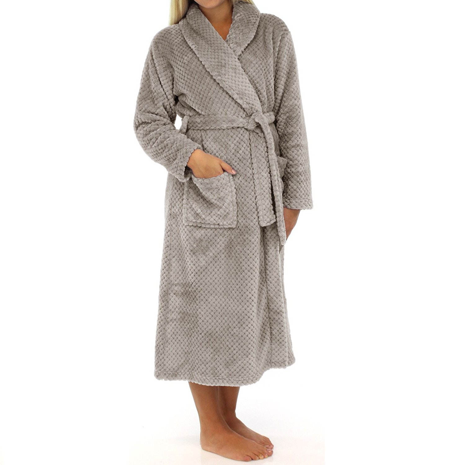 91dca983fa Get Quotations · Cheer Collection Luxurious Plush Bathrobe