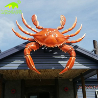 KANOSAUR1877 Garden Decoration Giant Lifelike Fiberglass Crab