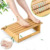 Ergonomic Bamboo Foot Stool Under Desk Footrest with Massager Rollers for Office Home