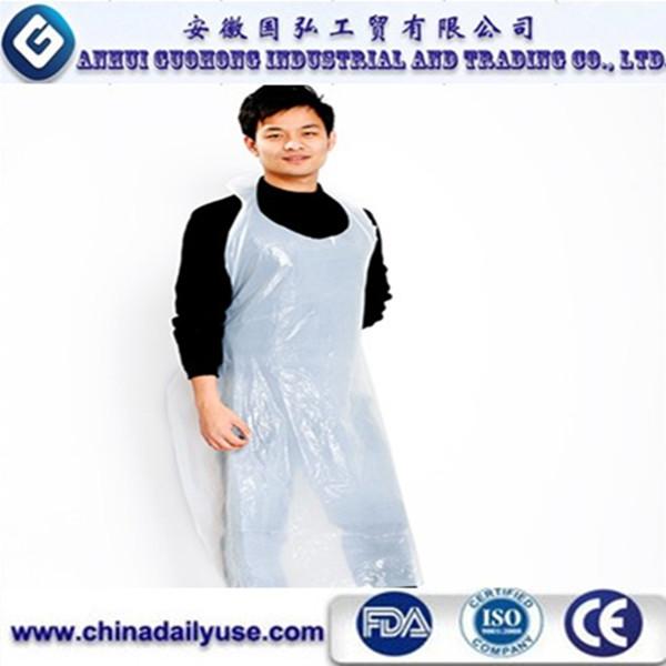 Plastic Kitchen Cpe Blue Full Body Apron Nursing Disposable ...