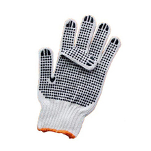 Double dotted PVC cotton gloves,white cotton gloves with PVC dots