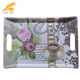 Frosted rectangle handle tray custom melamine trays wholesale for sandwich