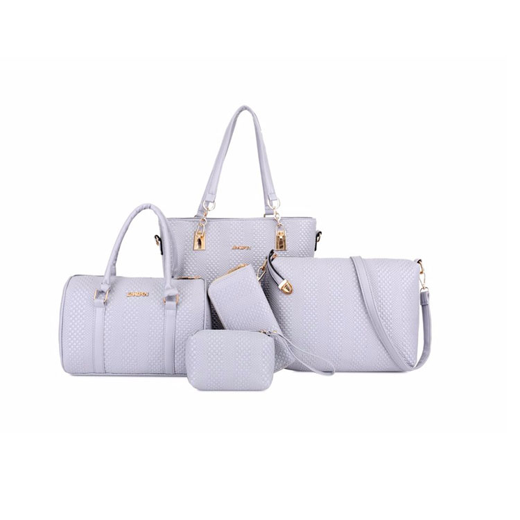 New designer china High quality elegant PU Leather second hand bags set tote bags 5pcs handbags set for lady