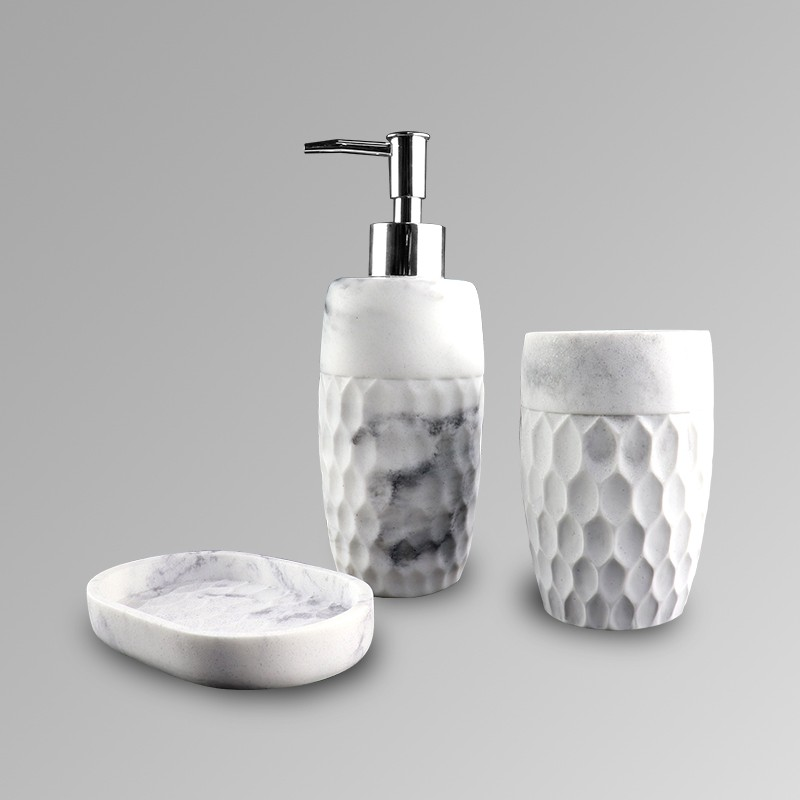 Chinese inkt ontwerp hars polyresin bad accessoire badkamer set