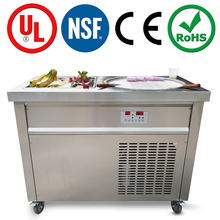 NSF CE certification high quality thailand style flat pan thai fried ice cream machine