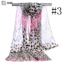 hot hot sexi photo girls chiffon scarf women leopard print scarves