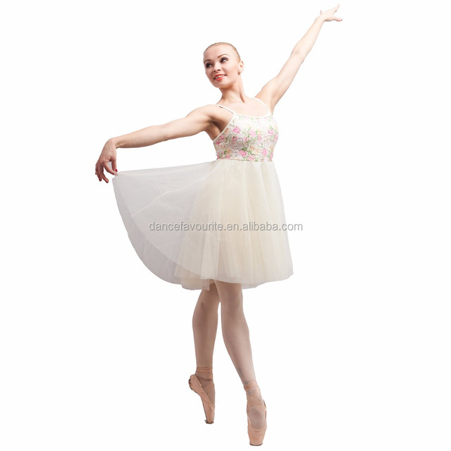 f972694e5 Ivory Sequin Lace Chiffon Dress for Ballet, Lyrical and Contemporary Dance  Show Costumes 17001