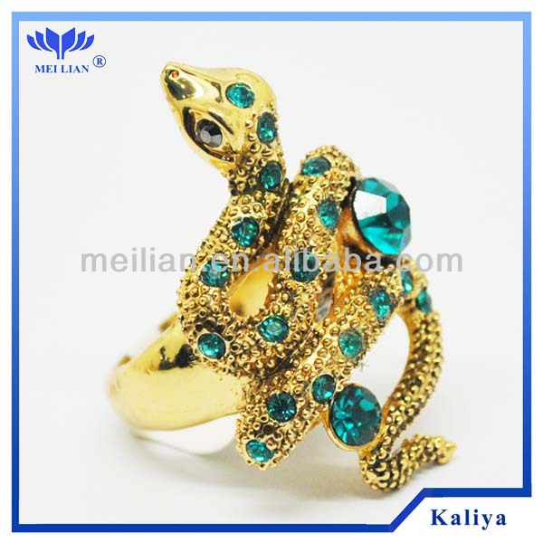 2014 New Trend Jewelry Indian Emerald Rings Snack