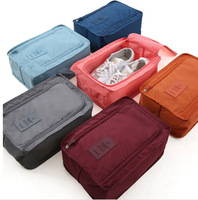 Wholesale waterproof storage travel sport organizer shoe set bag polyester zipper shoe bag