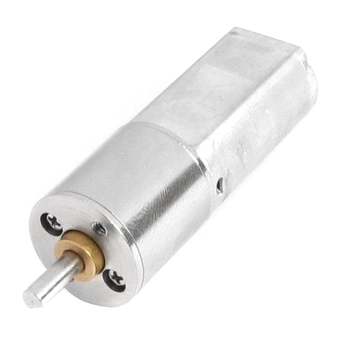 uxcell 12V 60RPM 3mm Shaft 16mm Diameter DC Geared Motor w Gearbox
