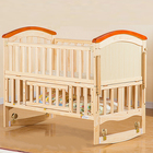 0-3 years old mobile side rail baby bed fence multifunctional baby crib with bedding set and free mosquito net
