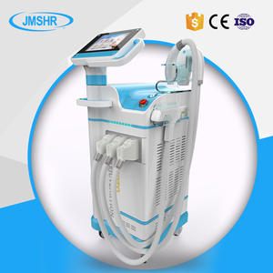 Salon and clinic use IPL+RF+YAG 3 in 1 multifunction beauty machine for hair epilation and tattoo removal