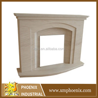 made in China gas fireplace mantel plans(without fireplace insert)