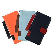 Mobile phone accessories Flip leather wallet case credit card slot cash hand rope phone case for iPhone X