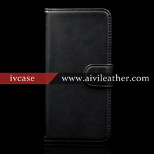 Luxury Genuine Leather Mobile Phone Cover for iphone 7 plus Wallet Credit Card Cell Phone Case