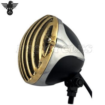 4 5 Aftermarket Vintage Motorcycle Headlight With Solid Brass