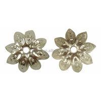 Silver Plated Lotus Leaf Filigree Bead Caps
