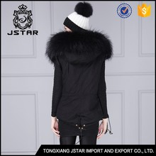 2017 chinese factory supply black faux fur waistcoat