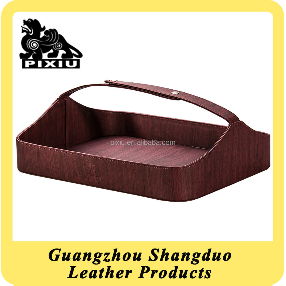 UK Popular Manufacturer Hotel Shoe Basket in Leather