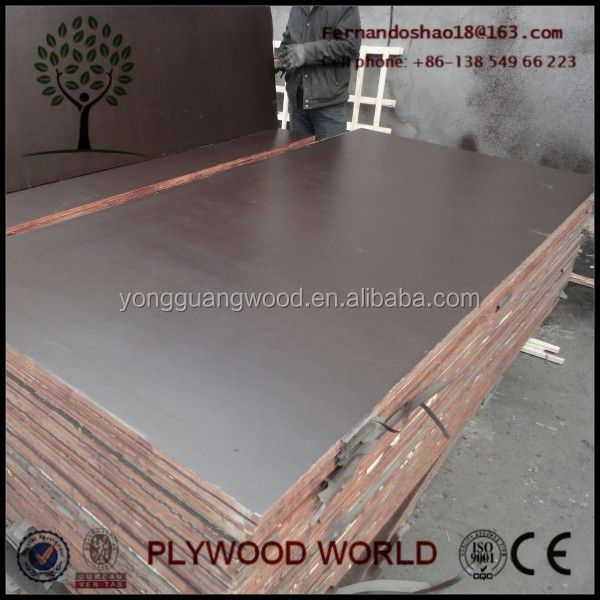 Marine Plywood 18mm Concrete, Black Phenolic Film Face Plywood 12mm