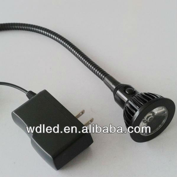 3w 110v/220v Us Plug Black Led Wall Mount Reading Lamp