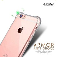 2016 Hot Sale Latest Premium Shockproof Transparent for Iphone 7 Case TPU PC
