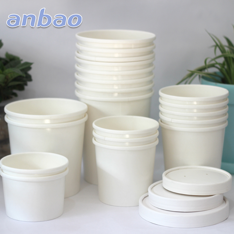 disposable container paper bowls and lids