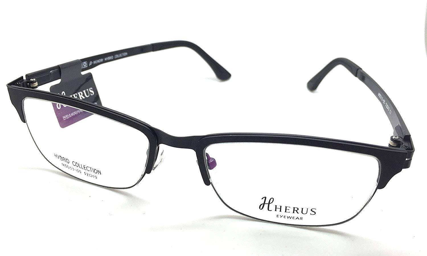 e58dfa5fbad Get Quotations · Hybrid Collection Prescription Eye Glasses Frame Metal and  Ultem Herus 33-05 C1