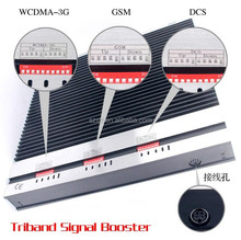 20dBm triple band signal booster multi band selective repeater gsm 3g 900 1800 2100mhz tri band mobile signal booster