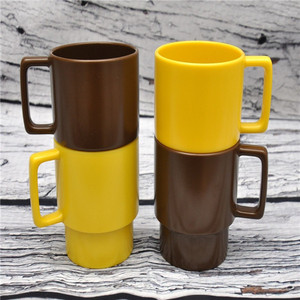 high quality 4pcs picnic cups with handle,plastic camping outdoor coffee mugs factory wholesale