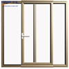 Customized double glazed glass spring hinge door and top hung window
