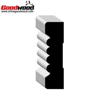 White Decorative Primed Wood Door Casing Molding