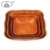 2017 Alibaba best supply square woven wooden pasta bowl storage bowl