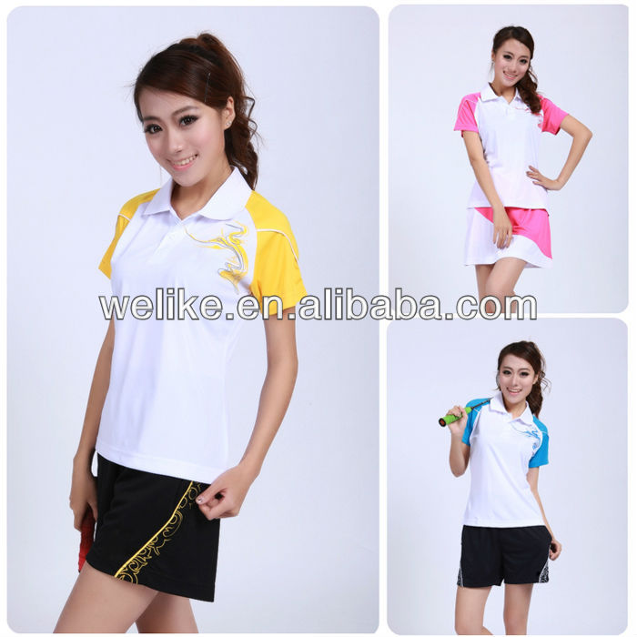 New ladies polo shirt women badminton wear badminton sports jersey