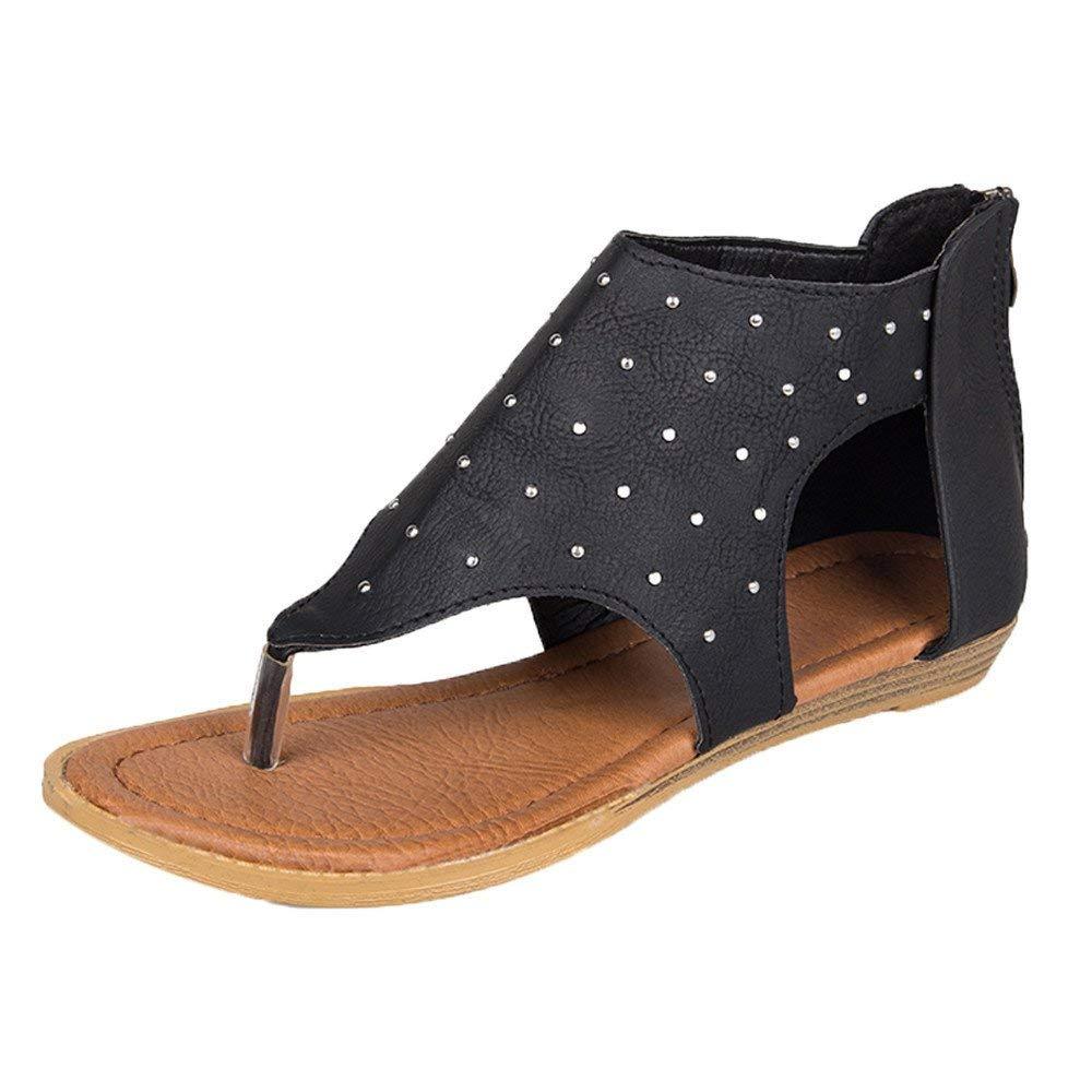 4952b33138ed0 Get Quotations · Faber3 Hot Sale Sandals for Women-Womens Flip Flops Buckle  Strap Summer Beach Flat Gladiator