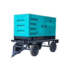 High quality mobile trailer 200kw silent generator 250v