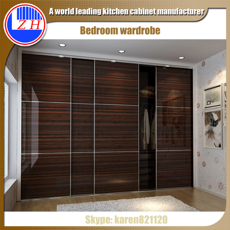 Sliding Cabinet Door Design: Wall Closet Systems Clothes Wardrobe Cabinet Design With