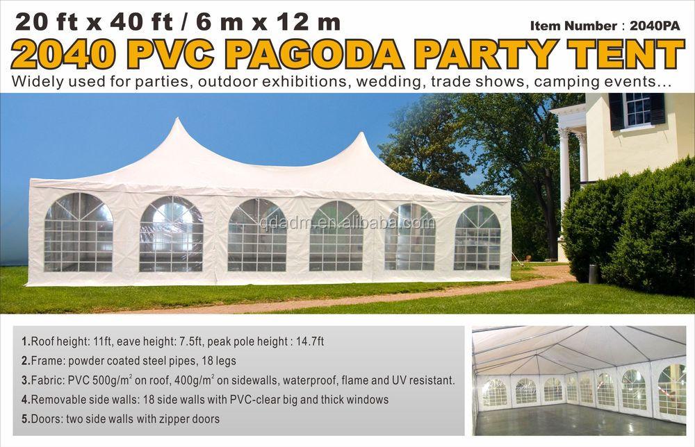 Hoge Goede Kwaliteit 20 Ft X 40 Ft Pagode Party Tent Te Koop
