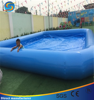 Comercial inflable piscina rectangular ni os piscina for Tobogan piscina ninos